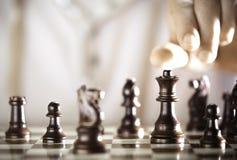 Giocatore di scacchi Immagini Stock