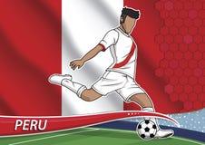 Giocatore di squadra di calcio nel Perù uniforme Immagine Stock Libera da Diritti