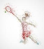 Giocatore di tennis astratto Immagini Stock
