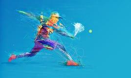 Giocatore di tennis astratto Fotografia Stock