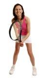 Giocatore di tennis della donna Immagini Stock