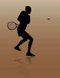 Giocatore di tennis della giovane donna Illustrazione di Stock