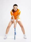 Giocatore di tennis della ragazza Fotografia Stock