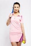 Giocatore di tennis della ragazza Immagine Stock Libera da Diritti