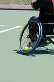 Giocatore di tennis della sedia a rotelle Fotografia Stock Libera da Diritti