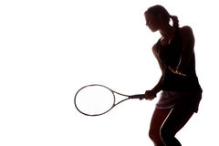 Giocatore di tennis femminile Fotografia Stock Libera da Diritti
