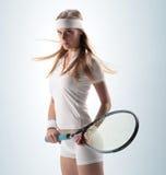 Giocatore di tennis femminile Fotografie Stock