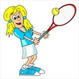 Giocatore di tennis - ragazza Illustrazione di Stock