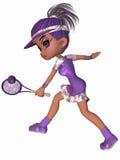 Giocatore di tennis sveglio Immagini Stock