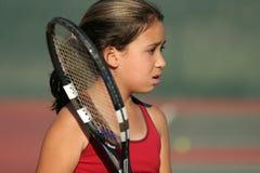Giocatore di tennis Upset immagini stock