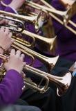 Giocatore di tromba Fotografia Stock Libera da Diritti