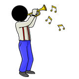 Giocatore di tromba Fotografia Stock