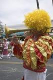 Giocatore di trombone alla celebrazione annuale di solstizio di estate Immagine Stock Libera da Diritti