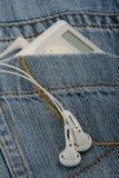 Giocatore e jeans di musica Fotografia Stock