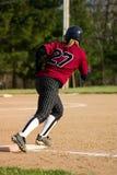 Giocatore femminile di softball fotografie stock