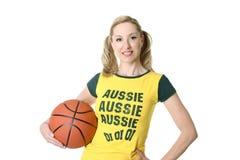 Giocatore femminile sportivo Fotografie Stock Libere da Diritti
