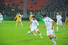 Giocatore greco Georgios KARAGOUNIS nell'attacco Immagine Stock