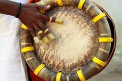 Giocatore indiano del tamburo Fotografia Stock
