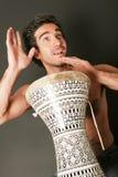 Giocatore maschio del tamburo Fotografia Stock Libera da Diritti