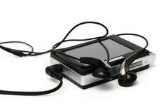 Giocatore Mp3 con i trasduttori auricolari Immagini Stock Libere da Diritti