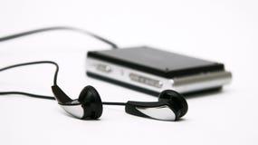 Giocatore Mp3 con i trasduttori auricolari (A) Fotografie Stock