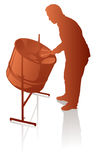 Giocatore steelpan maschio Immagine Stock