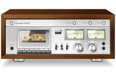Giocatore stereo analogico della piattaforma del nastro a cassetta dell'annata Immagini Stock