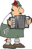 Giocatore tedesco della fisarmonica Fotografie Stock Libere da Diritti