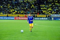 Giocatore ucraino di Vyacheslav SHEVCHUK sul campo Immagine Stock