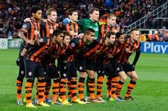 Giocatori del FC Shakhtar Donetsk Immagine Stock Libera da Diritti