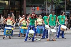 Giocatori del tamburo Fotografie Stock