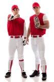 Giocatori di baseball Fotografie Stock Libere da Diritti