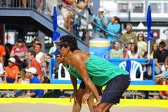 giocatori di beach volley Immagine Stock