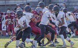Giocatori di football americano della High School Fotografia Stock Libera da Diritti