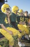 giocatori di football americano della Micro-lega Immagini Stock