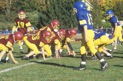 giocatori di football americano della Micro-lega Fotografie Stock Libere da Diritti