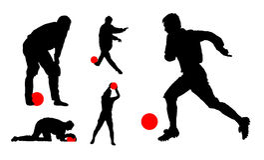 Giocatori di football americano. illustrazione di vettore Immagini Stock