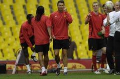 Giocatori di gioco del calcio 2009 della Francia migliori 30 - Ronaldo Immagini Stock