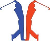 Giocatori di golf royalty illustrazione gratis