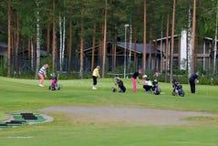 Giocatori di golf Fotografie Stock Libere da Diritti