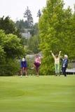 Giocatori di golf felici delle donne Fotografia Stock Libera da Diritti