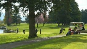 Giocatori di golf Golfing Canada di golf Fotografie Stock