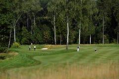 Giocatori di golf sul corso Immagine Stock Libera da Diritti