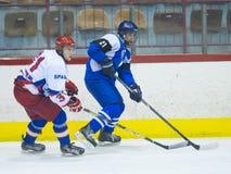 Giocatori di hockey Fotografia Stock