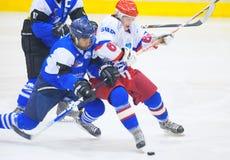 Giocatori di hockey Immagini Stock Libere da Diritti