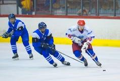 Giocatori di hockey Fotografie Stock