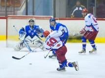 Giocatori di hockey Immagine Stock