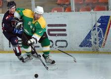 Giocatori di hockey su ghiaccio fotografia stock libera da diritti