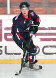 Giocatori di hockey su ghiaccio fotografia stock