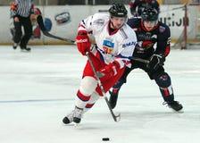 Giocatori di hockey su ghiaccio immagini stock libere da diritti